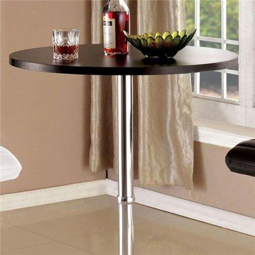 Benzara BM123860 Nessa Contemporary Bar Table, Brown