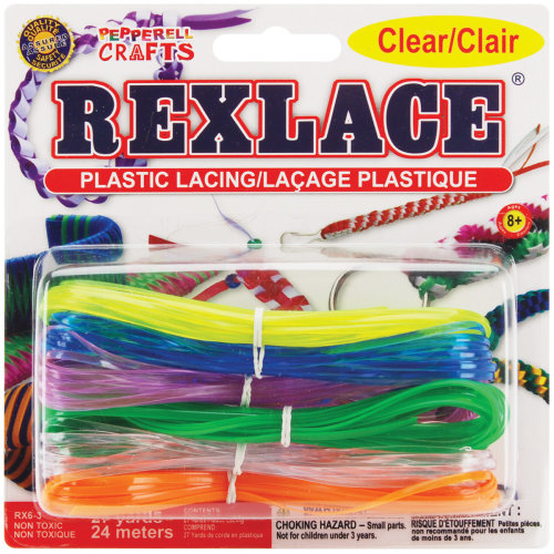 Rexlace Plastic Lacing 27yd-Clear