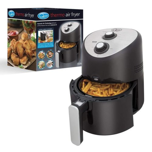 Quest Watt XL Air Fryer with Large 2.5L Basket, Adjustable Temperature and 30 Minute Timer Function, 1300 W, Black