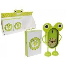 Green Happy Frog Children's Alamr Clock - Childrens -  green happy frog childrens alamr clock