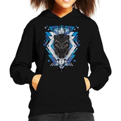 Marvel Black Panther Wakanda Vibranium Mask Pattern Kid's Hooded Sweatshirt