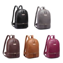 KONO Women Girls Backpack PU Leather School Bag