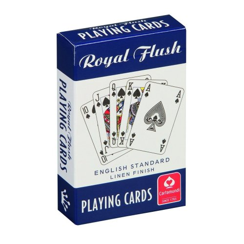 Red Royal Flush Playing Cards - Cartamundi Draper 56027 Lightduty Staple -  playing cartamundi royal flush cards draper 56027 lightduty staple