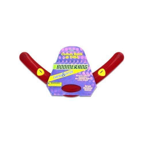 Red Plastic Boomerang