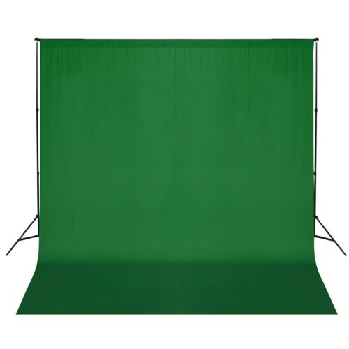 vidaXL Backdrop Support System 600x300cm Green Photography Studio Background