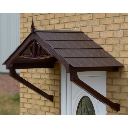 Brown Astwell Door Canopy with choice of roof colour