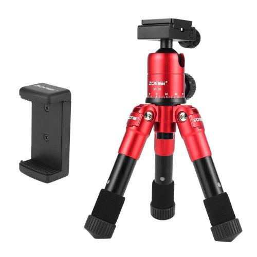 ZOMEi CK-30 Marco and Portable Tabletop Travel Tripod with Smartphone Adapter for Smart Mobile Phone iphone ipad Gopro and Canon Nikon Sony DSLR...