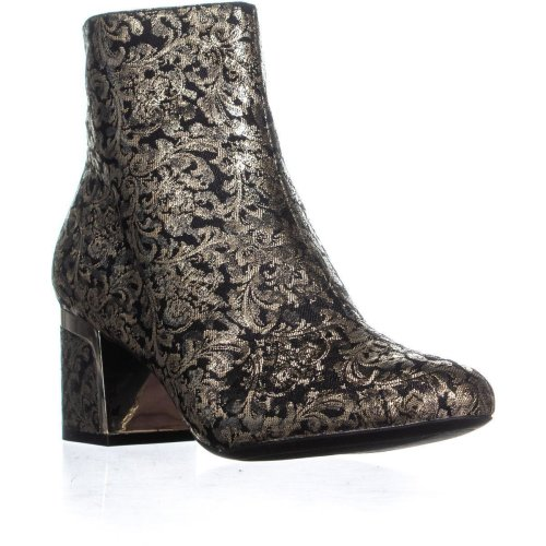 DKNY Corrie Ankle Boots, Brocade Black/Gold, 4.5 UK