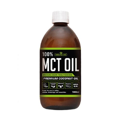 Natures Aid 100% MCT Oil Premium Coconut Oil - 500ml