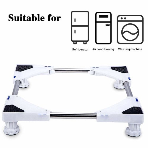 SMONTER Multi-functional Movable Adjustable Base with 4 Strong Feet Mobile Case Roller Dolly for Washing Machine,Dryer and Refrigerator …