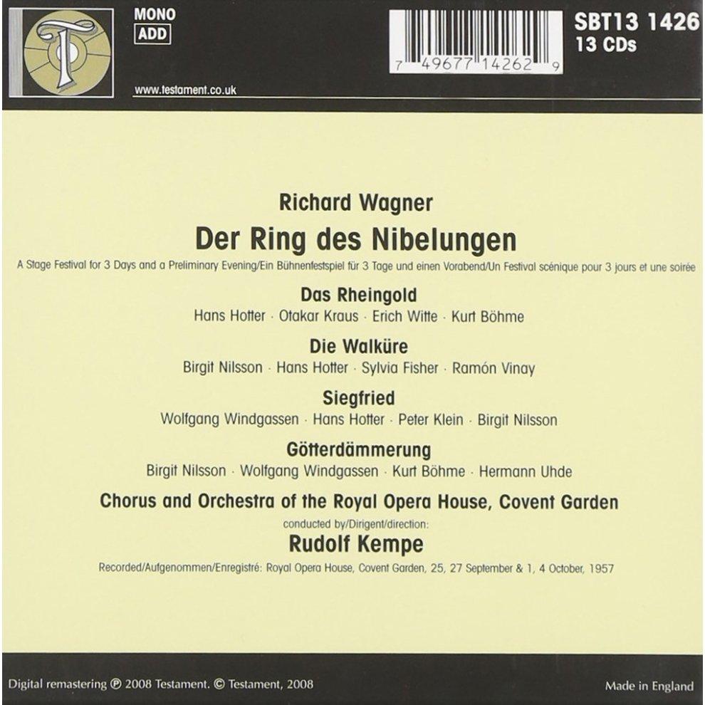 Der Ring Des Nibelungen Kempe 13 Cd