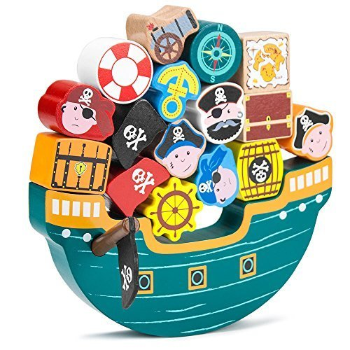 Blockbeards Balance Boat Balancing Game (18 pieces) by Imagination Generation