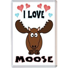 I Love Moose  - Jumbo Fridge Magnet