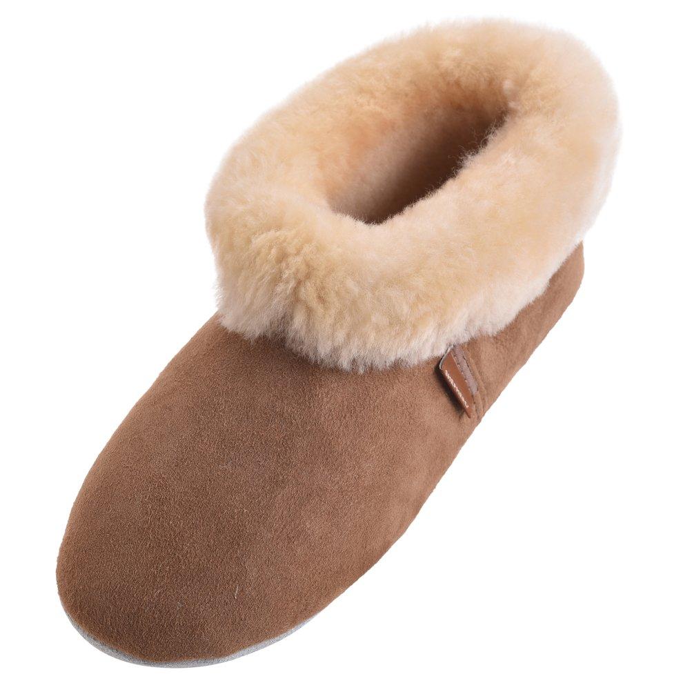 faf4f2e03784d ... Shepherd of Sweden Ladies Suede Sole Sheepskin Bootee Slippers - 1 ...