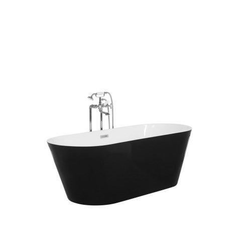 Freestanding Oval Bathtub Black CABRITOS