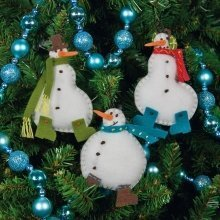 D72-08171 - Dimensions Felt Applique - Ornament: Simple Snowmen