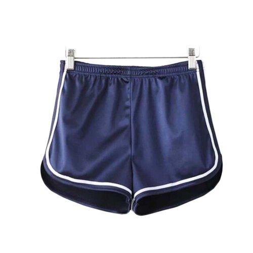Women's Hot Gym Sport Shorts Shiny Metallic Pants, #A 3