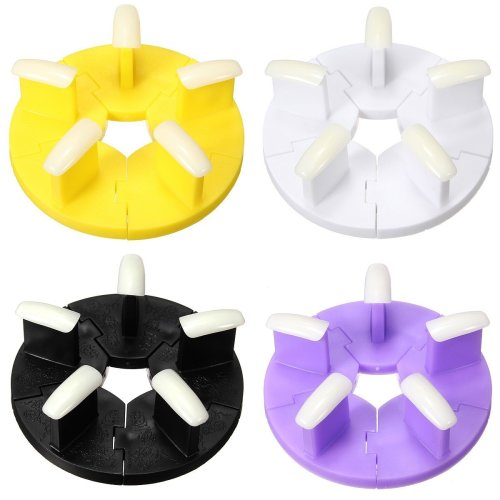 4 Colors Plastic Removeable False Nail Tips Display Stands Practice Manicure Tool Holder