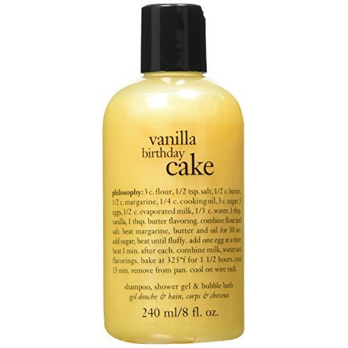 Philosophy Vanilla Birthday Cake Shampooshower Gelbubble Bath 8oz