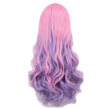Multicolor Cosplay Long Wavy Wig for Lolita Halloween Party Anime Fans