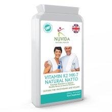 Vitamin K2 MK-7 / 120 x 100mcg Capsules / Derived from Natural Natto