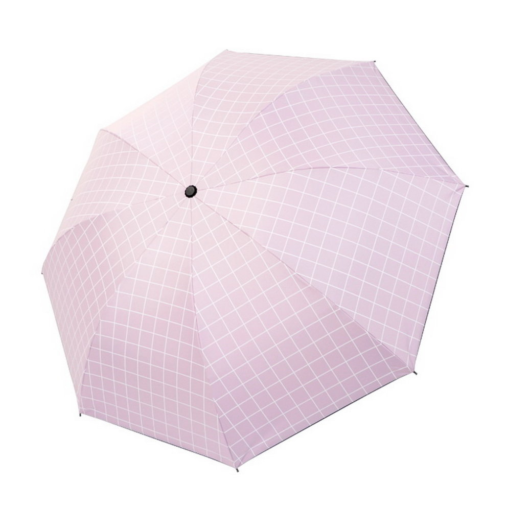 b93a2230d7ff Portable Folding Umbrella Sun Protection Umbrella, Pink Plaid
