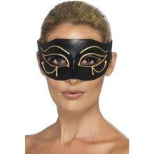 Smiffy's 44278-egyptian Eye Of Horus Eye-mask Black & Gold, One Size -  eye horus eyemask egyptian fancy dress gold cleopatra