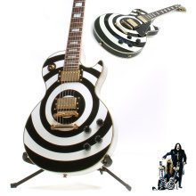 Guitar Decal/Sticker: Black or White Zakk Wylde 'Bullseye' sticker for Les Paul