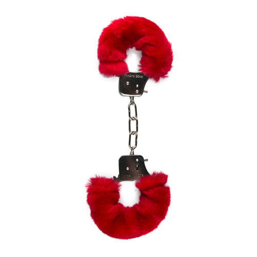 Furry Handcuffs - Red  BDSM Hand cuffs - Easytoys Fetish Collection