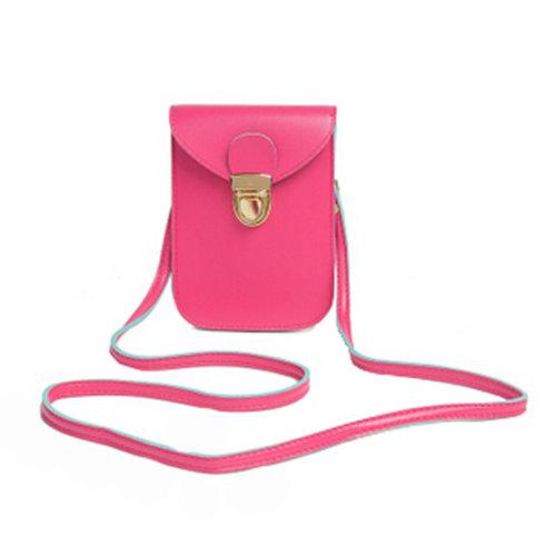 PU Leather Womens  Purses Universal Cellphone Leather Bag Shoulder Strap Purses