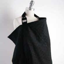 Bebe Au Lait The Original Stylish Cotton Nursing Cover Eyelet Black