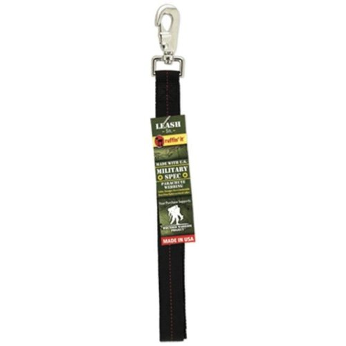 Westminster Pet Products 81500-3 1 in. X 5 ft. Military Spec Print Leash - Black & Red