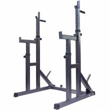 Gym Master Adjustable Squat Rack & Dip Stand Barbell Power Lifting Weight Bench