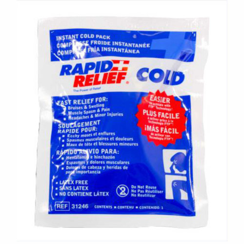 Rapid Relief Instant Cold Packs