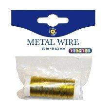 Pbx2470478 - Playbox - Metal Wire (gold) - Ï 0,3 Mm - 80 Mtrs