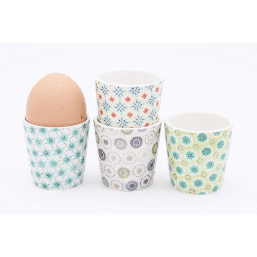 ECP Design Paisley Print Egg Cups, Set of 4