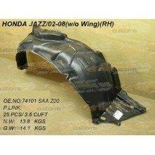 Honda Jazz 2002-2008 Front Wing Arch Liner Splashguard Right O/s