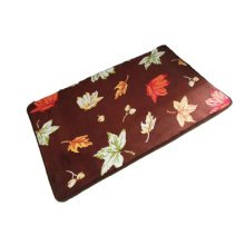 Absorbent Machine Washable Coral Non-slip Doormats,Maple Leaves(40*60CM)