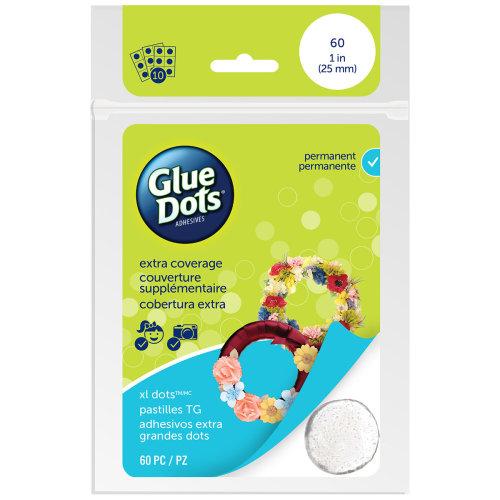 "Glue Dots 1"" XL Dot Sheets-60 Clear Dots"