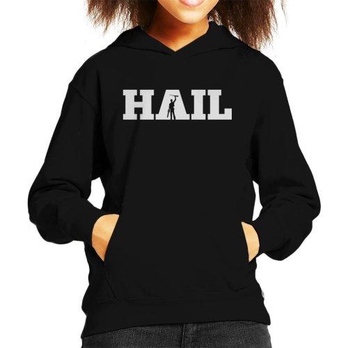 Hail Evil Dead Ash Silhouette Kid's Hooded Sweatshirt