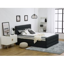 Dark Grey Upholstered Bed VALBONNE