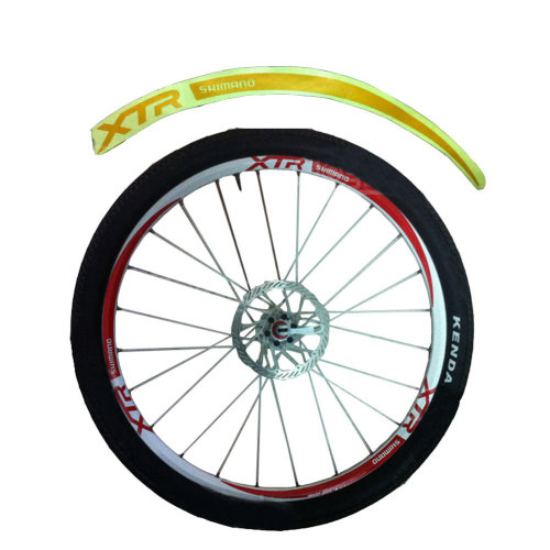 [YELLOW]Unique Colour XTR 12Pics Reflective Bike Rim Sticker Wheel Decal Sticker