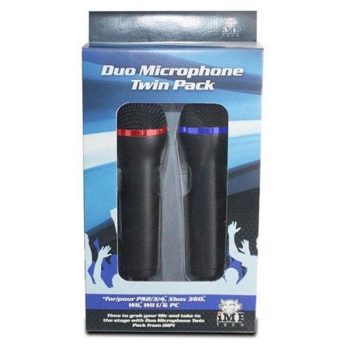 iMP Multiformat Microphone Twin Pack for XBox One, PS4, Xbox 360, PS3 and PC