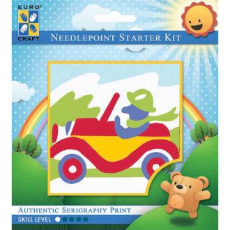 "Needleart World Needlepoint Kit 6""X6""-Racing Car"