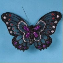 Artificial Glittered Butterflies, Two Tone