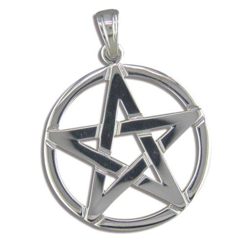 Childrens sterling silver pentagram pendant on a curb necklace on onbuy childrens sterling silver pentagram pendant on a curb necklace aloadofball Choice Image