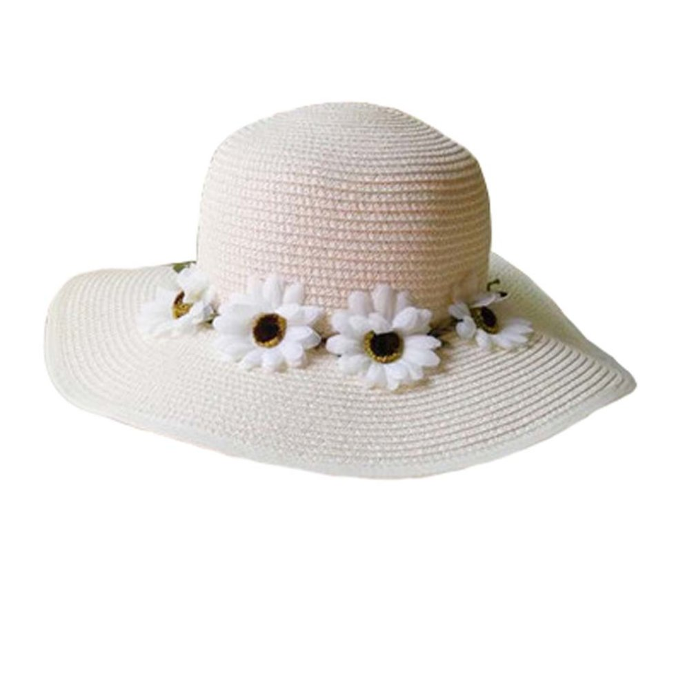 c237d6fe Brimmed Hat Child Children Folding Beach Hat UV Girls Summer Sunscreen Large  ...