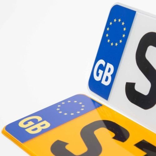 Road Legal GB Euro Symbol Car Sticker Number Plate Decal for European Roads