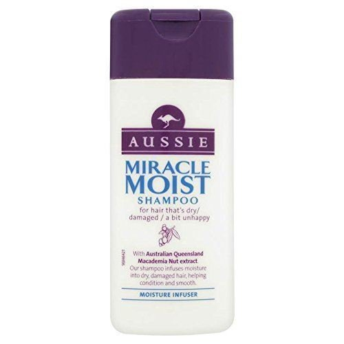 Aussie Shampoo Miracle Moist Dry Damaged Hair Smoothen Macadamia Nut Oil 75ml