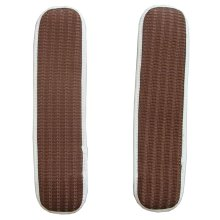 Soft Chair Armrest Covers Armrest Pads for Chair Stripe Coffee